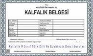 Kalfalık 9 Sınıf Türk Dili Ve Edebiyatı Dersi Soruları